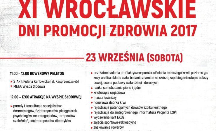 Wrocławskie Dni Promocji Zdrowia już w ten weekend