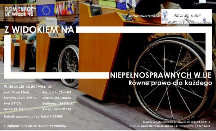 Z Widokiem na niepełnosprawnych w UE. Równe prawa dla każdego