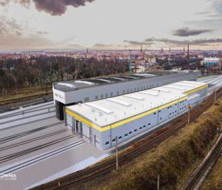 hala serwisowa kolei dolnośląskich panorama