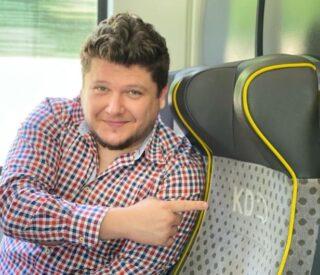P. Corso lektor w pociągu