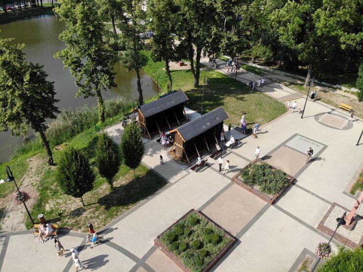 Tężnie przy Stawach Trzebnickich created by dji camera
