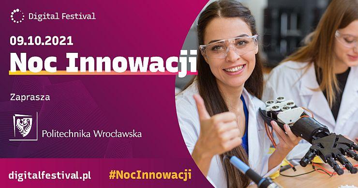 Noc_Innowacji_2021 na politechnice wrocławskiej grafika